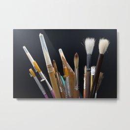 Art Tools Pencils and Brushes Metal Print