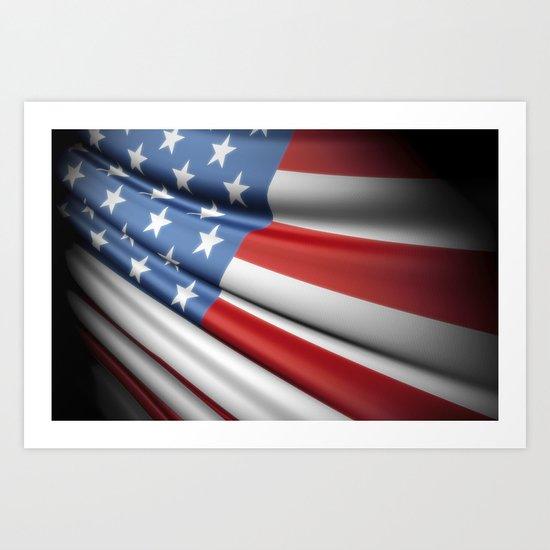Flag of USA Art Print