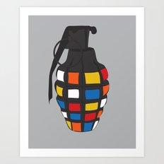 Rubik's Grenade Art Print