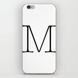 Letter M Typewriting iPhone Skin