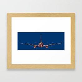 Boeing Dots Framed Art Print