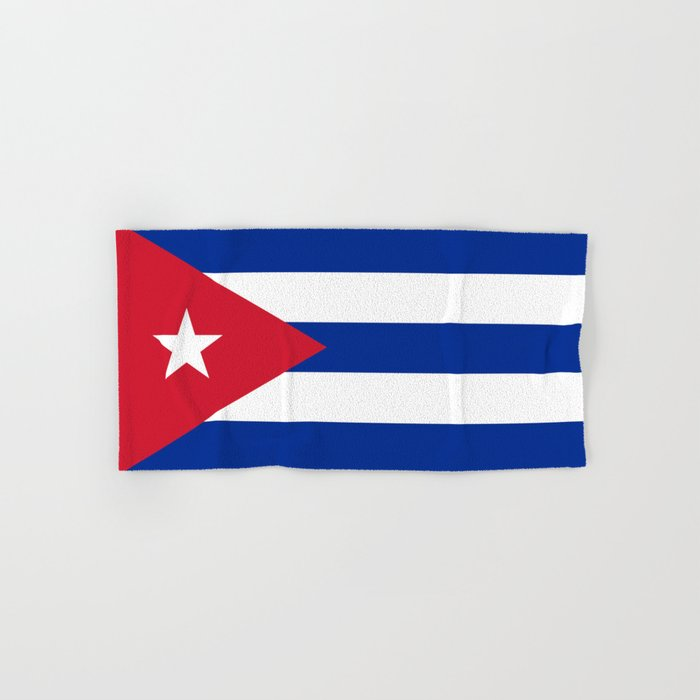 National flag of Cuba - Authentic HQ version Hand & Bath Towel