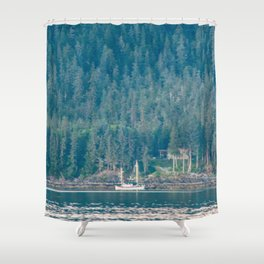 A Fisherman's Rest Shower Curtain