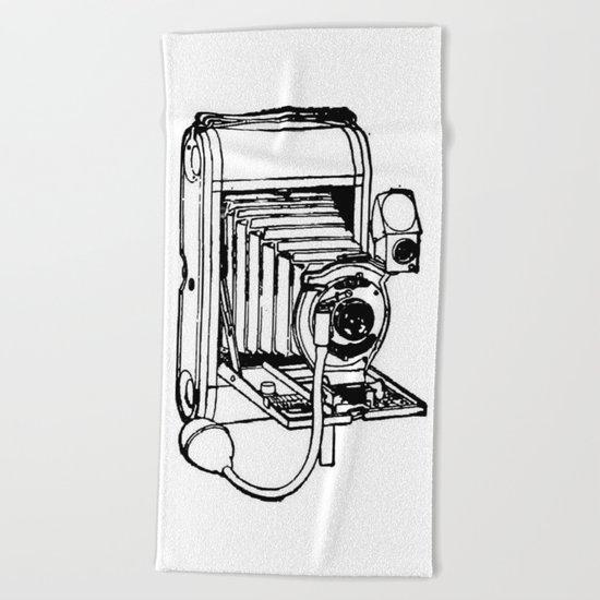 Camera. Beach Towel