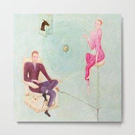 "Florine Stettheimer ""Portrait of Marcel Duchamp and His Alter Ego Rrose Sélavy"" Metal Print"