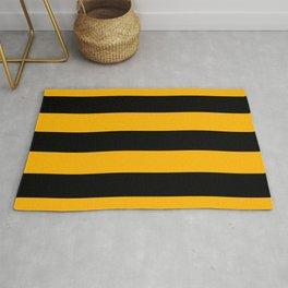Big Stripes Black Yellow Rug