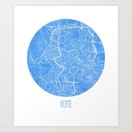 Rome. Bluer Period. Art Print