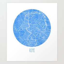 Rome. Bluer Period. Art Print