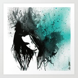 This Confession Means Nothing: Turquoise Art Print