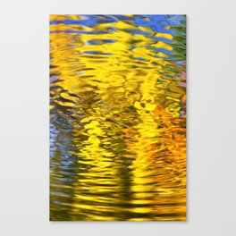 Gold Waves Abstract Art Canvas Print