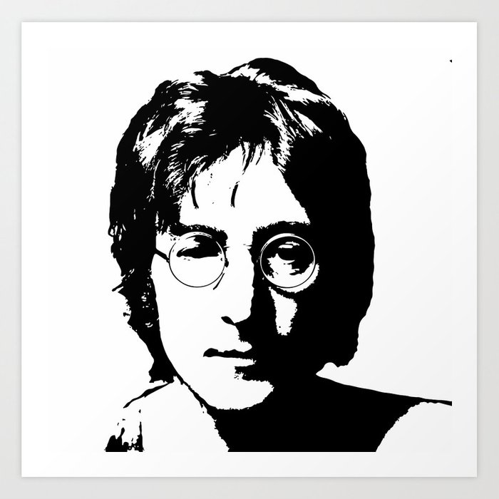John Lennon S Art Black And White Art Print By Mindful Society6