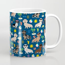 Dachshund beach sunshine summer days doxie dachsie gift must have dog gifts Coffee Mug