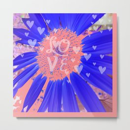 Pink Hearts Forever  Metal Print