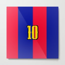 soccer team jersey number ten Metal Print