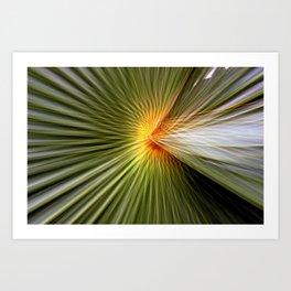 Palm leaf zoom Art Print