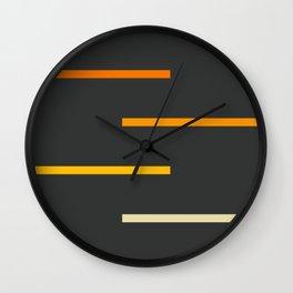Abstract Minimal Retro Stripes Ashtanga Wall Clock