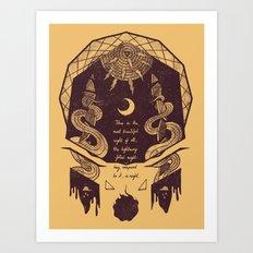 The Lightning Filled Night Art Print