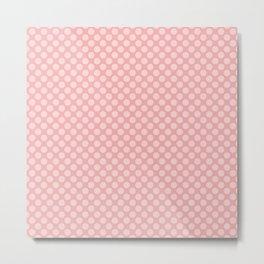 Large Light Pink Spots on Blush Pink Metal Print