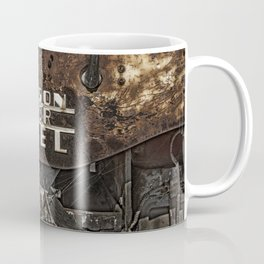 Old Fordson Major Diesel Tractor Emblem on a Rusty Weathered Background Coffee Mug
