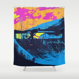 Tail Whip Scooter Stunt Shower Curtain