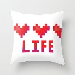 Cute 8 bit heart canister vector illustration. Throw Pillow