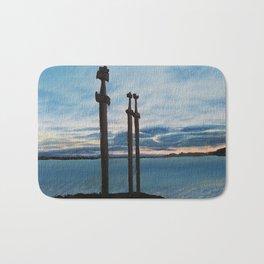 Three Swords - Stavanger Norway / Oil Painting Bath Mat