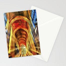 Bath Abbey Sun Rays Van Goth Stationery Cards