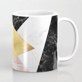 Elegant geometric marble and gold design Coffee Mug