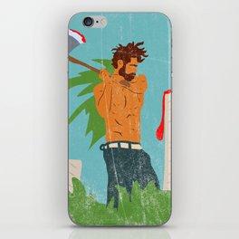 Lumberjack Blues iPhone Skin