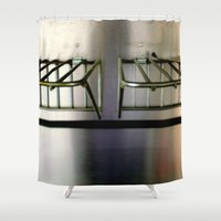 metal Shower Curtains featuring Metal On Metal by oneofacard
