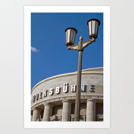 Volksbühne - Theater - Rosa-Luxemburg-Platz - Berlin - Germany  Art Print