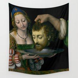 Salome with the Head of Saint John the Baptist - Andrea Solario Wall Tapestry