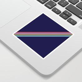 Bathala - Minimal Classic 80s Style Graphic Design Stripes Sticker