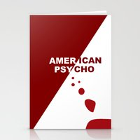american psycho Stationery Cards featuring American Psycho Minimalist by Gregor Miller