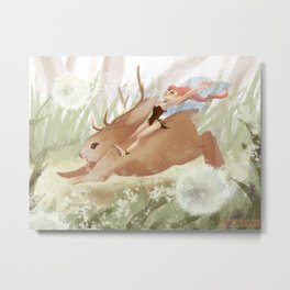 Frolicking Metal Print