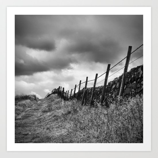 Along The Wire Art Print