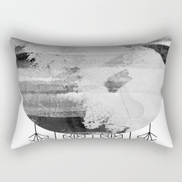 'Planets' minimal styled geometrc design and abstract painting Rectangular Pillow