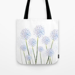 Pretty Flowers in Blue and Violet Tote Bag
