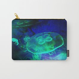 Green Glowing Luminescence of the UFO Jellyfish Carry-All Pouch