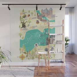 Princess Bride Discovery Map Wall Mural