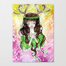 deer girl 2  Canvas Print