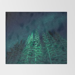Star Signal - Nature Photography Throw Blanket