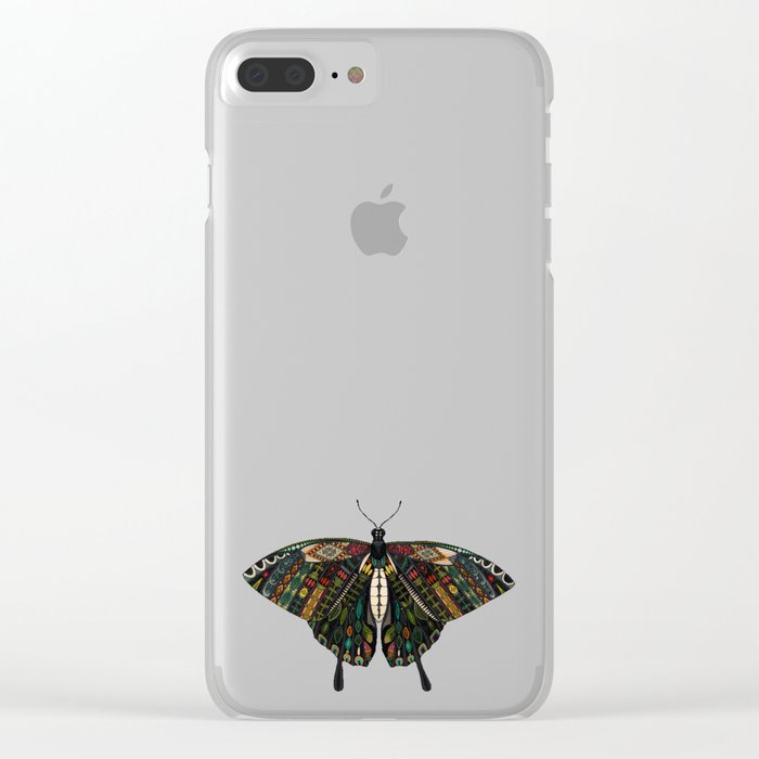 swallowtail butterfly mint Clear iPhone Case