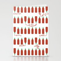 sriracha Stationery Cards featuring That Sweet Heat by Volkstricken
