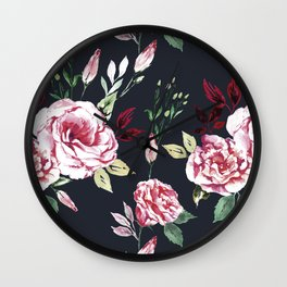 Lisianthus Pattern Wall Clock