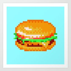 Burger Power-Up Art Print