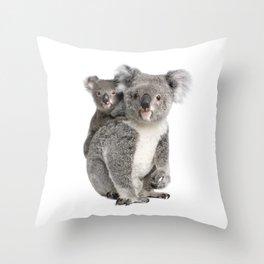 Koala bear and her baby Throw Pillow