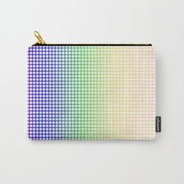 Rainbow Dot Perforations Carry-All Pouch