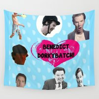 benedict cumberbatch Wall Tapestries featuring Benedict DorkyBatch by Paris Noonan
