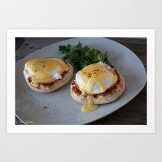 Traditional Eggs Benedict Art Print